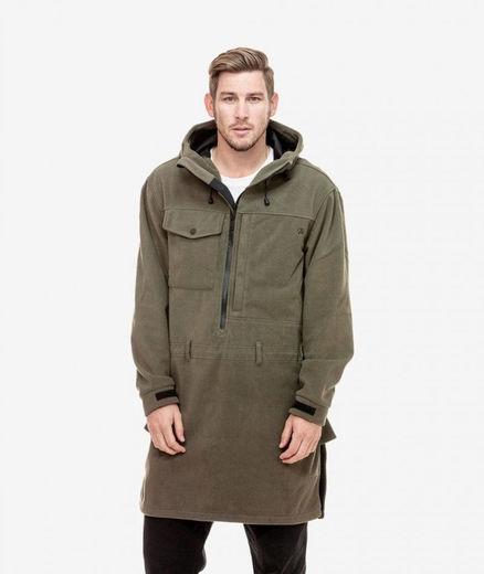 Swanndri Tundra Special Fleece Anorak Jacket Forest