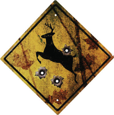 Tin Sign   Deer Crossing Sign