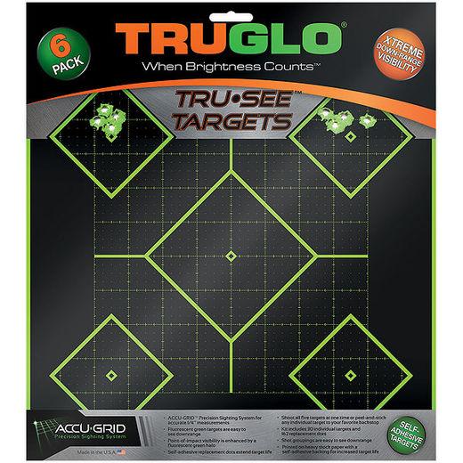 TruGlo TruSee 5 Diamond SelfAdhesive Green Targets 6 Pack