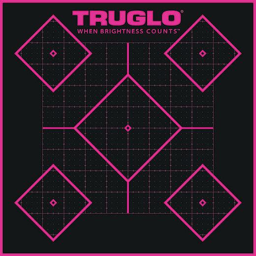 TruGlo TruSee 5 Diamond SelfAdhesive Pink Targets 6 Pack