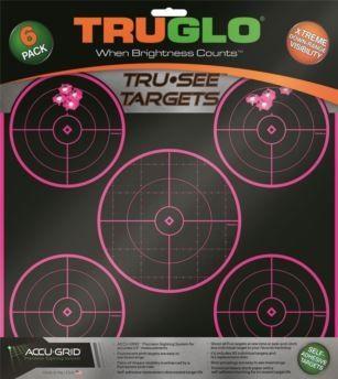 TruGlo Tru See 5 Bulleye Self Adhesive Pink Target 6 Pack