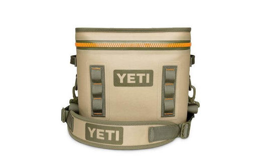YETI Hopper Flip 12 Field Tan  Blaze Orange Cooler