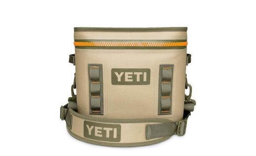 YETI Hopper Flip 12 Field Tan  Blaze Orange Cooler