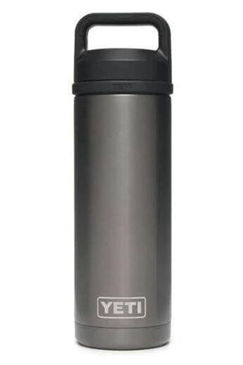 YETI Rambler 18oz Bottle With Chug Cap   PVD Graphite