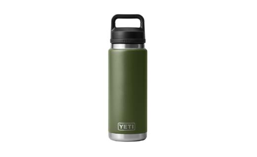 YETI Rambler 26oz Bottle Highland Olive With Chug Cap