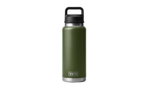 YETI Rambler 36oz Bottle Highland Olive With Chug Cap