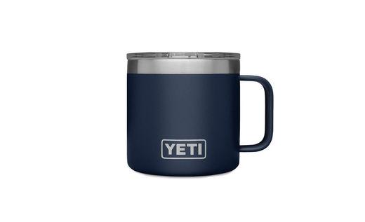 YETI Rumbler 14oz Mug Navy With Lid