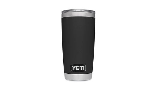 YETI Rumbler 20oz Tumbler Black With MagSlider Lid