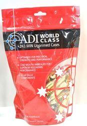 ADI .243Win Unprimed Brass Qty 50