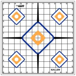 "Allen EZ Aim Sight 12"" Grid Target 12 Pack"