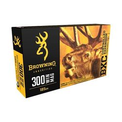 Browning BXC .300WinMag 185Grain CETT Pkt 20
