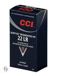 CCI 22LR Quiet 40Grain Segmented HP 50 Pkt