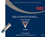 CCI 22LR Shotshell 31GN 12 Shot Size Pkt 20