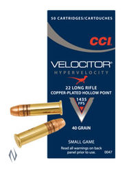 CCI 22LR Velocitor 40GN Hollow Point Brick 500