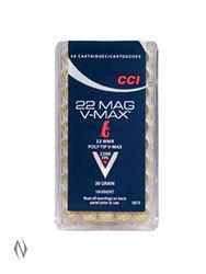 CCI 22WMR 30GN V-Max Polymer-Tipped Brick 500