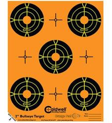 """Caldwell Orange Peel 2"""" Bullseye Target 10 Pack"""