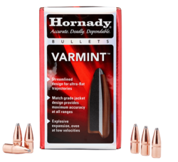 Hornady 22 Cal (.224) 60Gn Varmint HP 100 Pack Projectiles