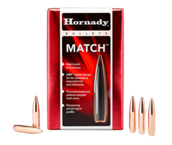 Hornady 30Cal (.308) 168Gn Match BTHP 250 Pack Projectiles