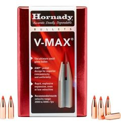 Hornady 6mm (.243) 65Gn V-Max 100 Pack Projectiles
