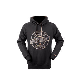 Hunters Element Stamp Hoodie Metal Black - 1x Medium Only