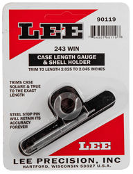 LEE 243Win Case Length Gauge & Shell Holder