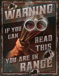 Large Heavy Metal Tin Sign - In Range