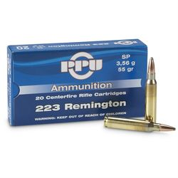 PPU 223Rem 55Grain Soft Point 20 Packet