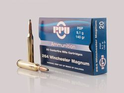 PPU 264WinMag 140Grain Pointed Soft Point 20 Rounds