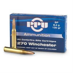 PPU 270Win 130Grain Soft Point 20 Rounds
