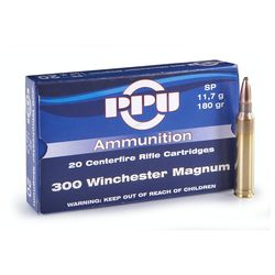 PPU 300WinMag 150Grain Soft Point 20 Rounds