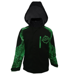 Ridgeline Kids Razorback Jacket - Black / Green - Size 2 Only