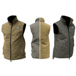 Ridgeline Scurry Reversaible Vest Olive / Teak