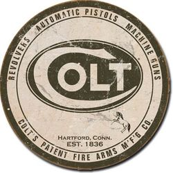 Round Tin Sign - Colt