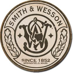 Round Tin Sign - Smith & Wesson