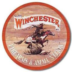Round Tin Sign - Winchester
