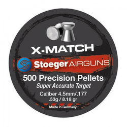 Stoeger X-Match Flat .177Cal Air Rifle Pellets Qty 500