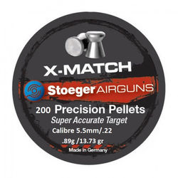 Stoeger X-Match Flat .22Cal Air Rifle Pellets Qty 200