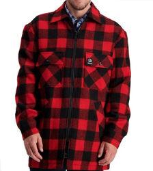 Swanndri Men's Longford Wool Shacket Red / Black Check