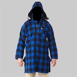 Swanndri Men's Mosgiel Blue/Black Check Zip Front Bush Shirt