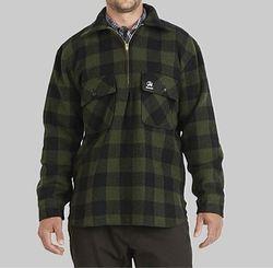 Swanndri Men's Ranger Olive/Black Check Wool Shirt
