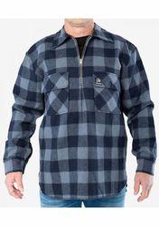 Swanndri Men's Ranger Slate / Navy Wool Check Shirt