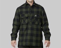 Swanndri Men's Ranger Extreme V2 Olive/Black Check Wool Shirt
