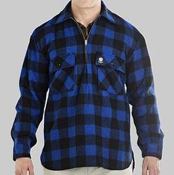 Swanndri Men's Ranger Blue/Black Check Wool Shirt