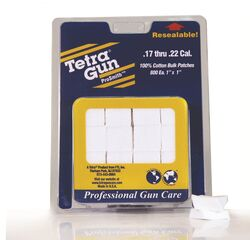 Tetra .17Cal - .22Cal Cotton Cleaning Patches Qty 800