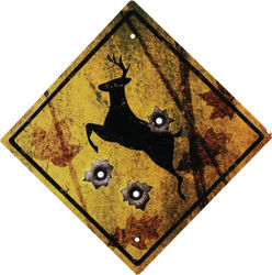 Tin Sign - Deer Crossing Sign