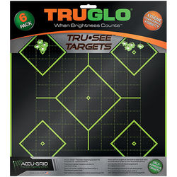 TruGlo Tru-See 5 Diamond Self-Adhesive Green Targets 6 Pack