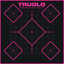 TruGlo Tru-See 5 Diamond Self-Adhesive Pink Targets 6 Pack