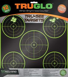 TruGlo Tru-See 5 Bulleye Self-Adhesive Green Target 6 Pack