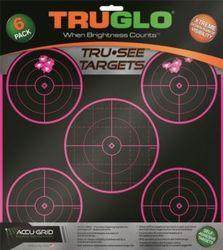 TruGlo Tru-See 5 Bulleye Self-Adhesive Pink Target 6 Pack